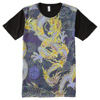 Most Popular Chinese Dragon Shaolin Style Pop Art All-Over Print T-Shirt