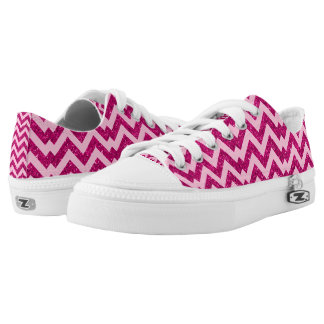 Most Popular Colorful Hot Pink Mermaid Pattern Low Tops