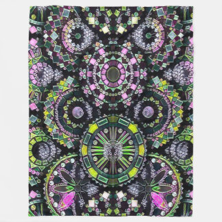 Most Popular Colorful Mandala Chalkboard Art Fleece Blanket