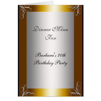 Most Popular Dinner Party Menu Card
