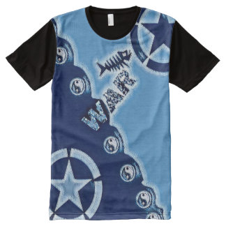 Most Popular Distressed War Yin Yang Symbol Art All-Over Print T-Shirt