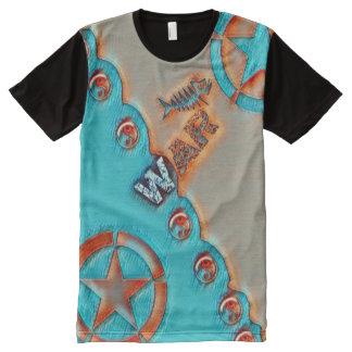 Most Popular Fish Star War Yin Yang Symbol All-Over Print T-Shirt