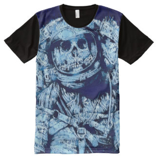 Most Popular Frozen Astronaut Death Fantasy Art All-Over Print T-Shirt