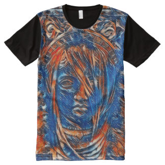 Most Popular Goddess Spirit Acrylic Paint All-Over Print T-Shirt