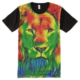 Most Popular Jamaican Rainbow Rasta Lion Trippy All-Over Print T-Shirt