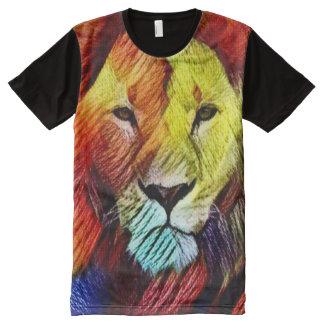 Most Popular Rasta Lion Full Color All-Over Print T-Shirt