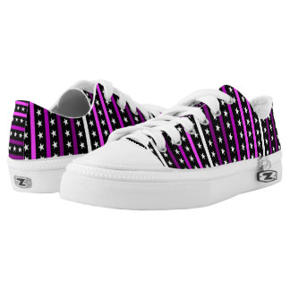 Most Popular Simple Pink Stars & Stripes Pattern Low Tops