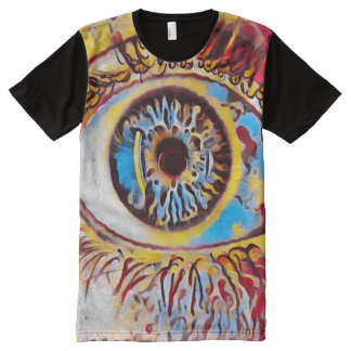 Most Popular Trippy All Seeing Eye Oil Paint Art All-Over Print T-Shirt