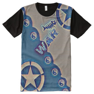Most Popular War Time Yin Yang Star All-Over Print T-Shirt