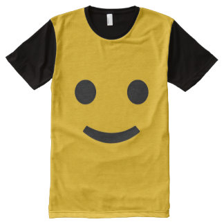 Most Popular Yellow Smiley Face All-Over Print T-Shirt