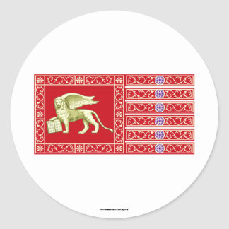 Most Serene Republic of Venice Flag Classic Round Sticker