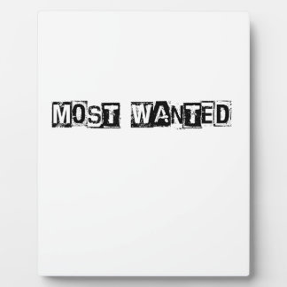 Most Wanted Plaque