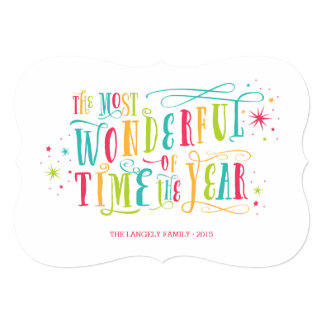 Most Wonderful Bright Colourful Holiday Card