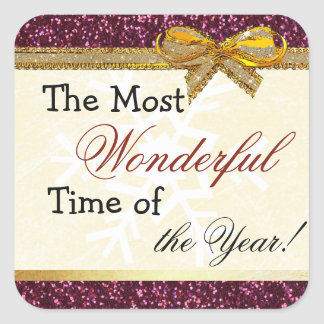 Most Wonderful Time of Christmas Quote Sticker