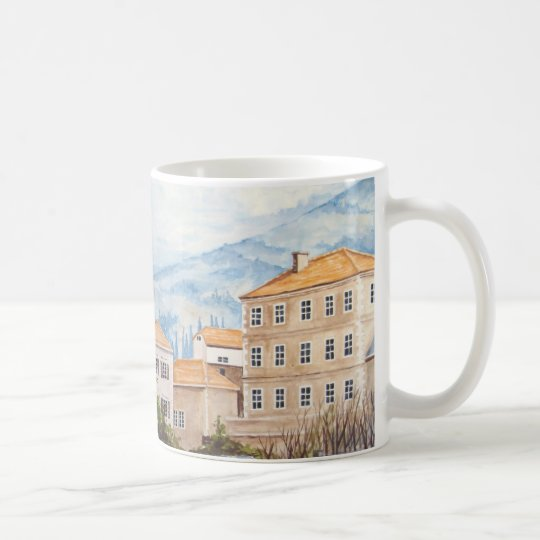 Mostar, Bosnia - Acrylic Townscape Painting Coffee Mug