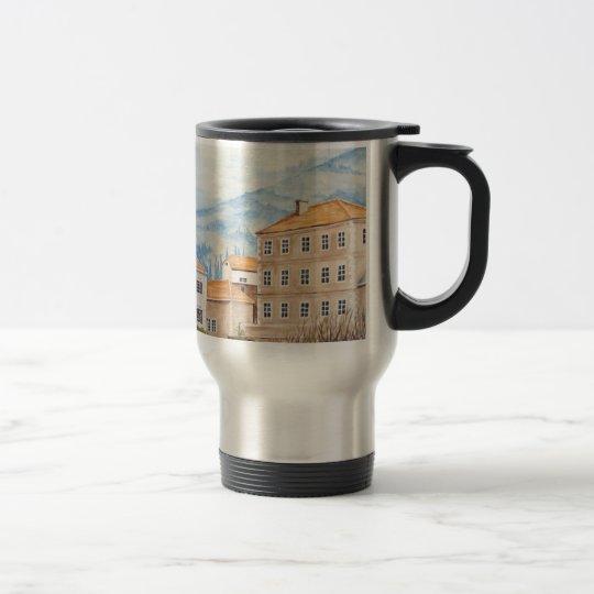 Mostar, Bosnia - Acrylic Townscape Painting Travel Mug