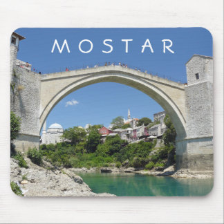 Mostar Old Bridge and Old Town mousepad