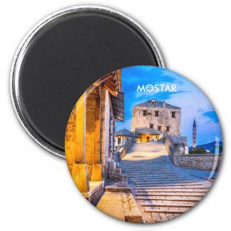 Mostar Old Bridge Magnet, Bosnia & Herzegovina 6 Cm Round Magnet