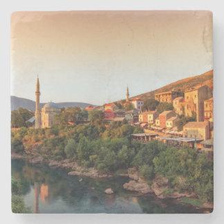 Mostar old city, Bosnia and Herzegovina Stone Coaster
