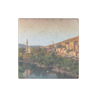 Mostar old city, Bosnia and Herzegovina Stone Magnet