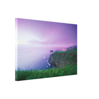 Mosteiros coastal sunset stretched canvas print