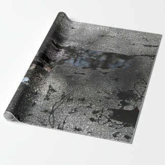 Mostly Black and White Nature Abstract Photography Wrapping Paper