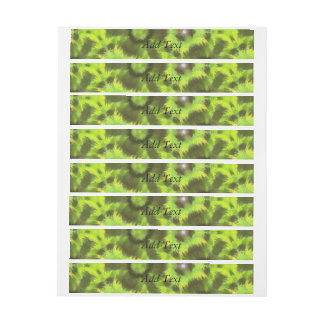 Mostly Green modern pattern Wraparound Address Label