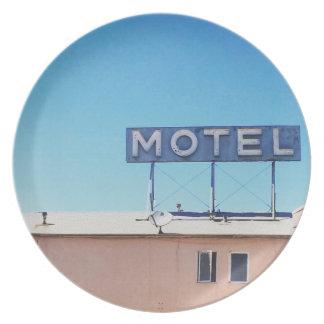 Motel off of Sepulveda Melamine Plate