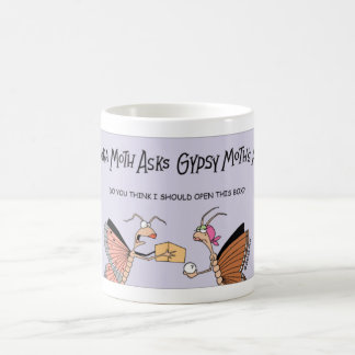 Moth asks a fortune teller coffee mug