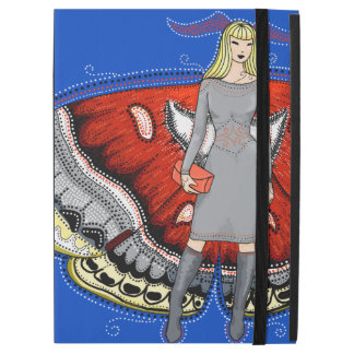 Moth fairy fashion illustration iPad cover