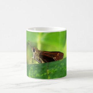 Moth on Leaf 2 Coffee Mug