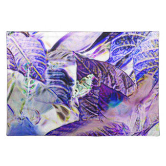 moth on plant purple blue bright abstract placemat