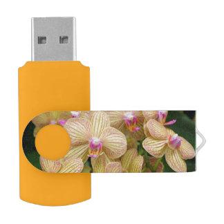 Moth Orchid Flash Drive Swivel USB 2.0 Flash Drive