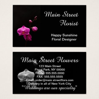 Moth Orchid Pink Flowers Business Card