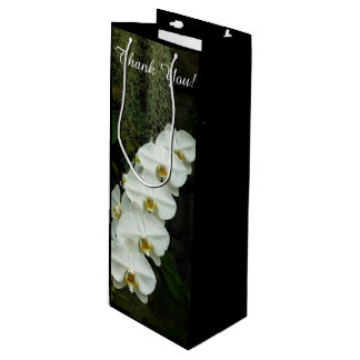 Moth Orchid White Flowers Wine Gift Bag