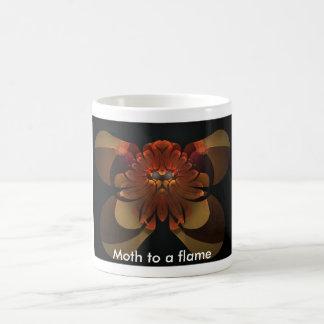 Moth to a flame basic white mug
