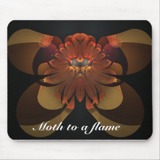 Moth to a flame mouse pad