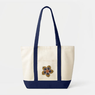 Moth Wing Abstract Flower Beach Tote Bag
