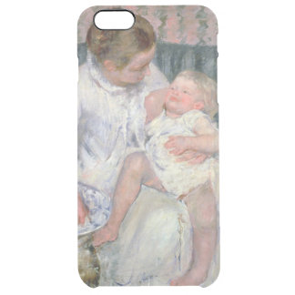 Mother about to Wash her Sleepy Child, 1880 (oil o Clear iPhone 6 Plus Case