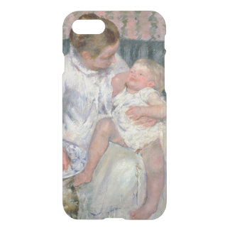 Mother about to Wash her Sleepy Child, 1880 (oil o iPhone 7 Case