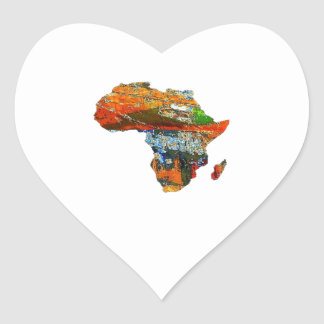 Mother Africa Heart Sticker
