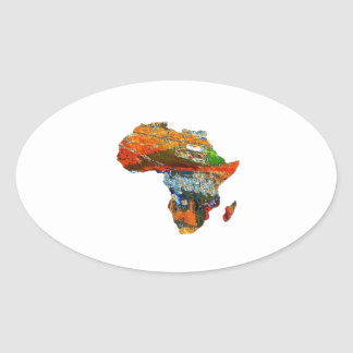 Mother Africa Oval Sticker