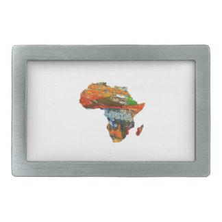 Mother Africa Rectangular Belt Buckle