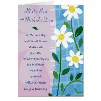 Mother -All The Best On Mother's Day Card