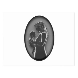 Mother and Baby - Brooch NEW Old Fashoined Postcard
