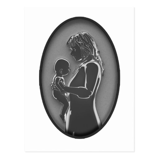 Mother and Baby - Brooch NEW Old Fashoined Post Cards