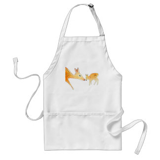 Mother and baby deer standard apron