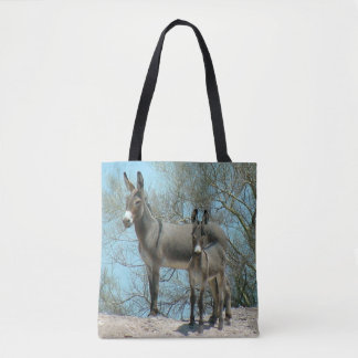 Mother and Baby Desert Burros Tote