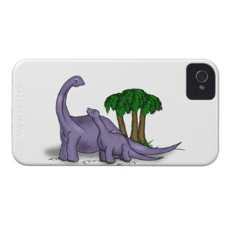 Mother and Baby Dinosaur iPhone 4 Case-Mate Case