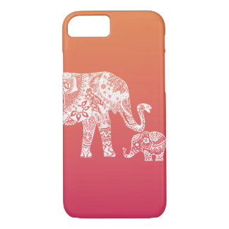 mother and baby elephant iPhone 7 case